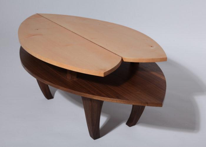 Leaf walnut sycamore coffee table
