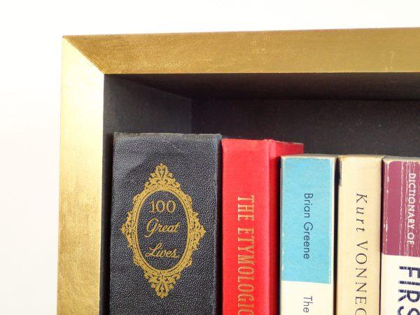 Gold edge bookshelf corner