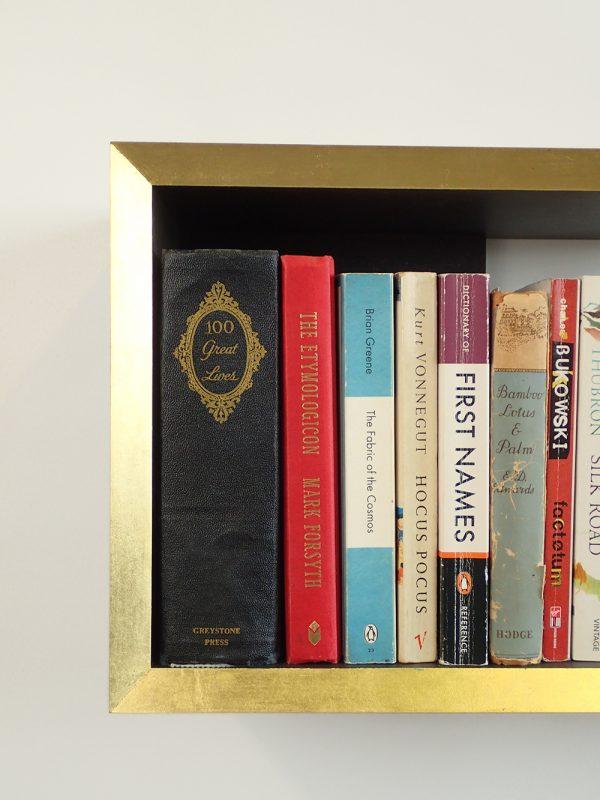 Gold edge bookshelf books