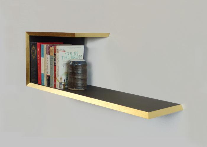 Gold edge bookshelf