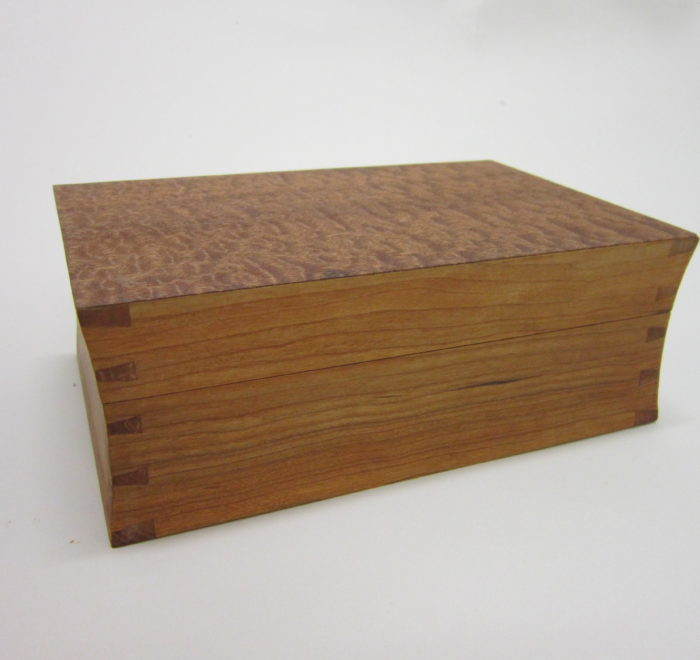 Concave dovetailed box cherry