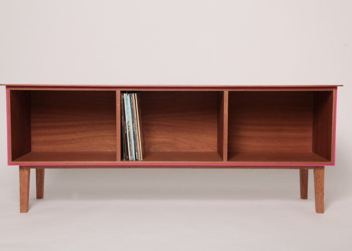 record cabinet sapele pink