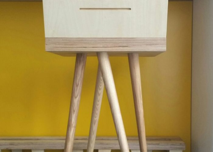 Birch and ash stool