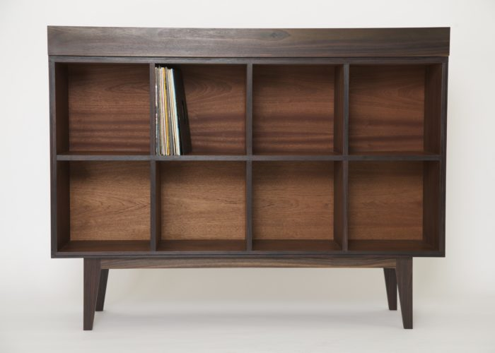 Reclaimed rosewood record cabinet