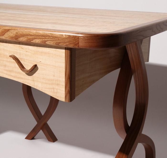 Stealm - elm and aspen writing desk luxury steam bent desk