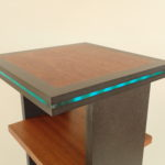 Sapele LED side table