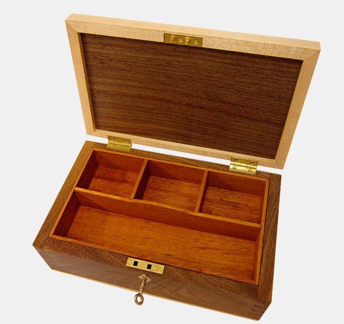 Dovetailed box jewellery keepsake box walnut