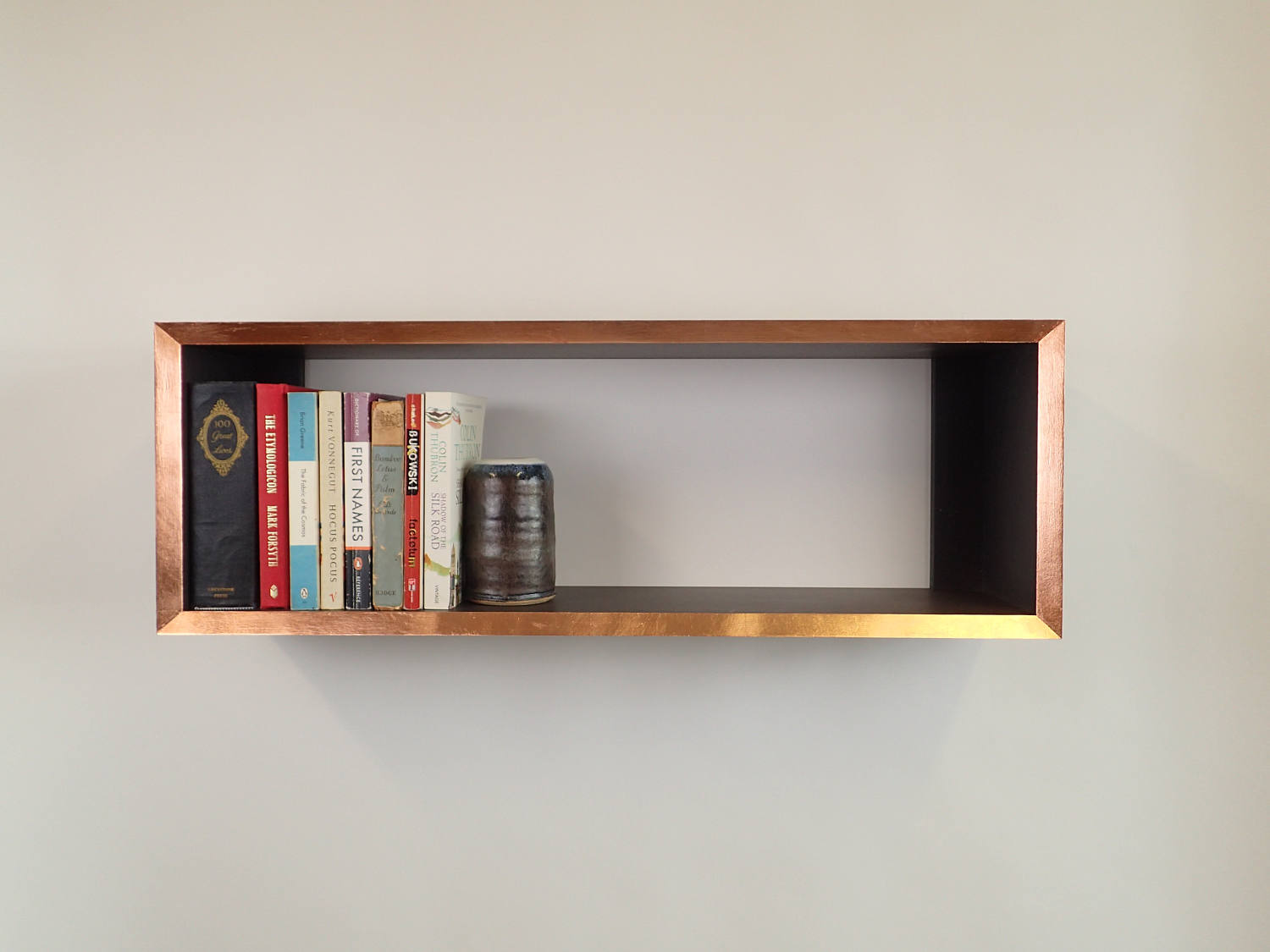 Home Bookcases Shelves Gilded Edge Bookshelf Copper