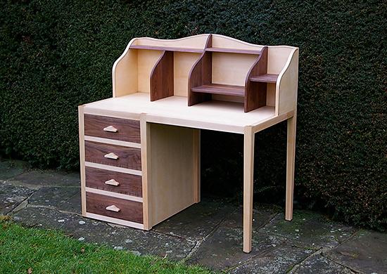 Maple walnut desk