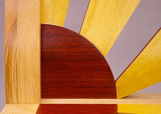 Sunburst chair - ash art deco chair padouk