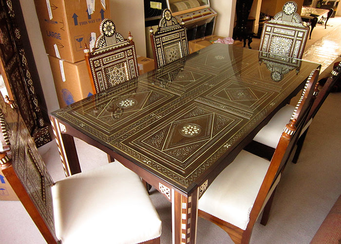 Syrian doors dining table mother of pearl