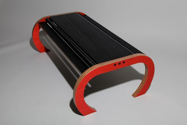 Red black coffee table
