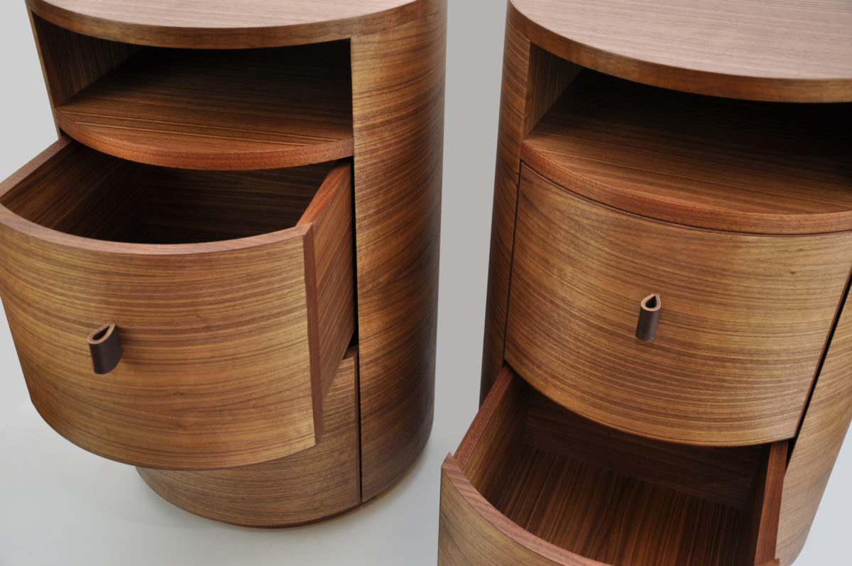 A Pair Of Bedside Tables For This Commission The Interior Designer Was Clear On Circular Simplicity These They Had To Hold Lamp
