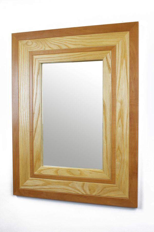 Pear and ash handmade mirror