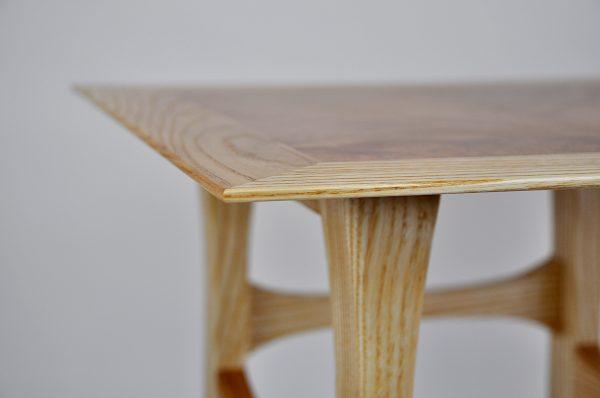Ash kururu side table edge