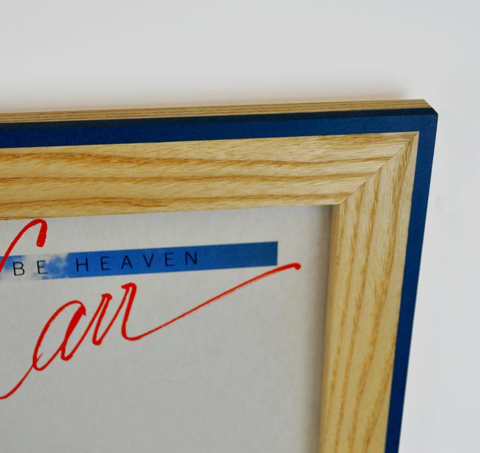 Vinyl frame for record lp frame corner