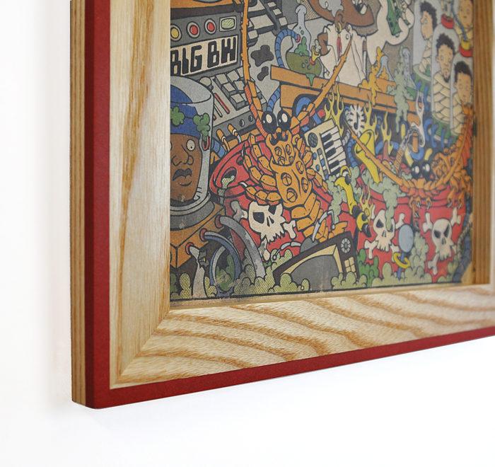 Vinyl frame for record lp frame red corner