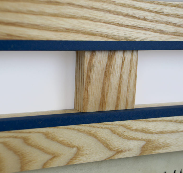Vinyl frame for record lp frame blue