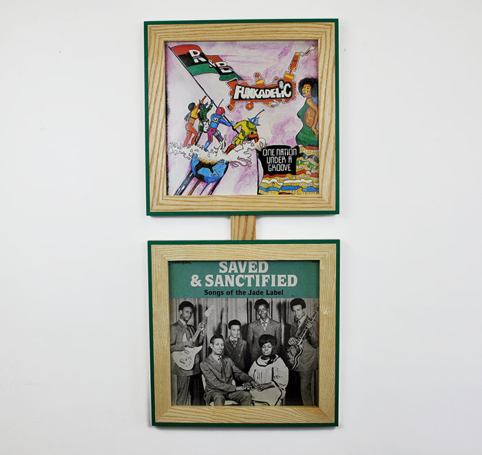 Vinyl frame for record lp frame saved and sanctified