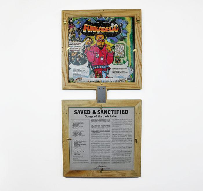 Vinyl frame for record lp frame back