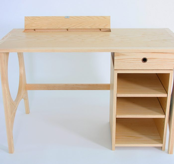 Full Moon Desk open compartment