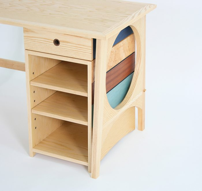 Full Moon Desk drawers