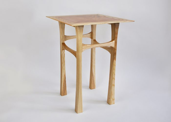 Ash side table maple veneer top 3