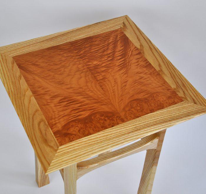 Ash side table maple veneer top main