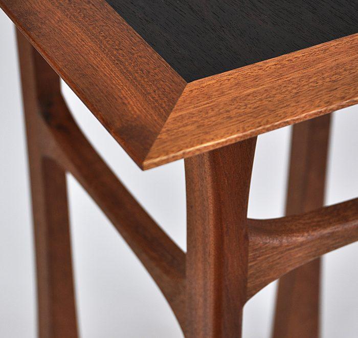 Sapele side table rosewood corner