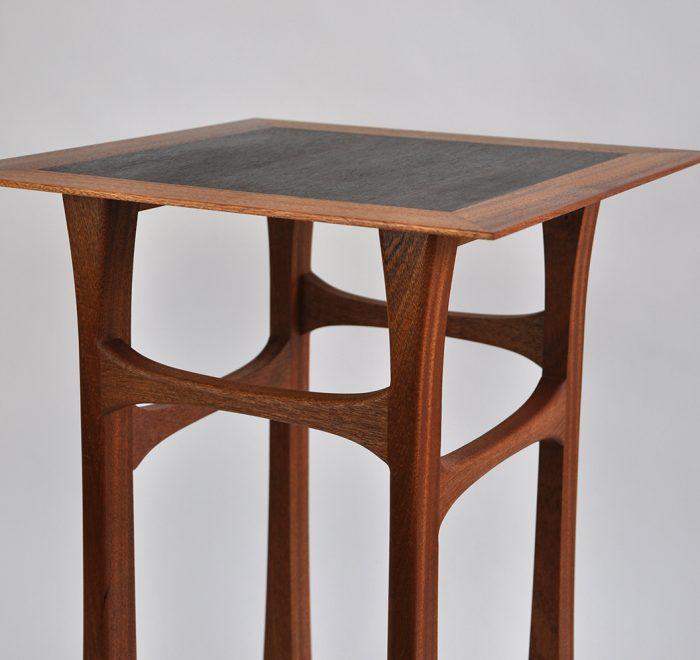 Sapele side table rosewood