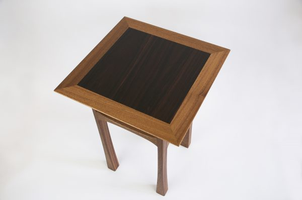 Sapele side table rosewood top