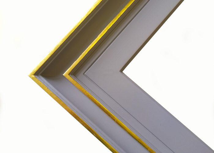 gold leaf gesso bespoke frame corner