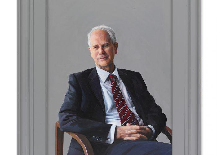 Grey bespoke portrait frame