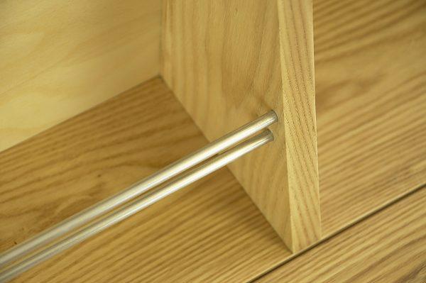 Drop down desk aluminium