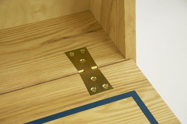 Drop down desk brass hinge