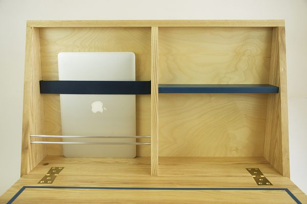 Drop down desk open laptop