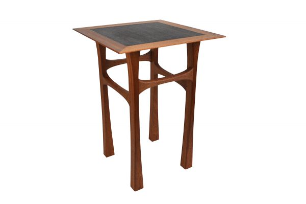 Sapele and rosewood side table