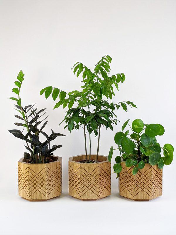 Handmade indoor planter pots