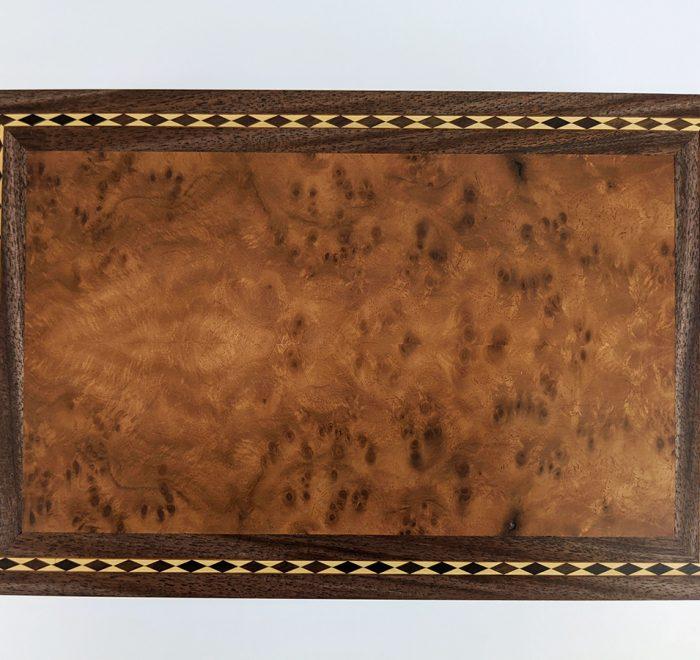 Walnut bridge box burr walnut veneer