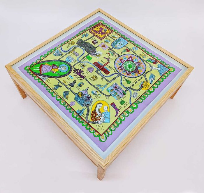 Grayson perry scarf coffee table top