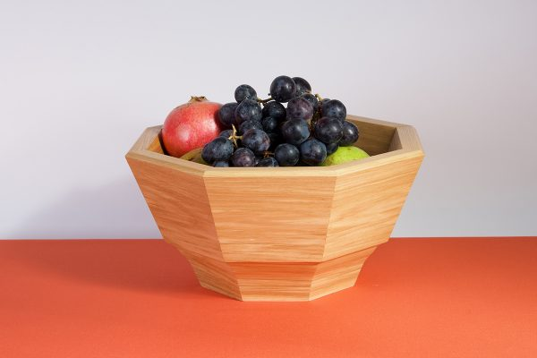 Handmade ash fruit bowl