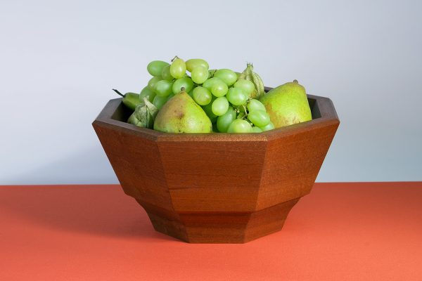 Handmade luxury sapele fruit bowl
