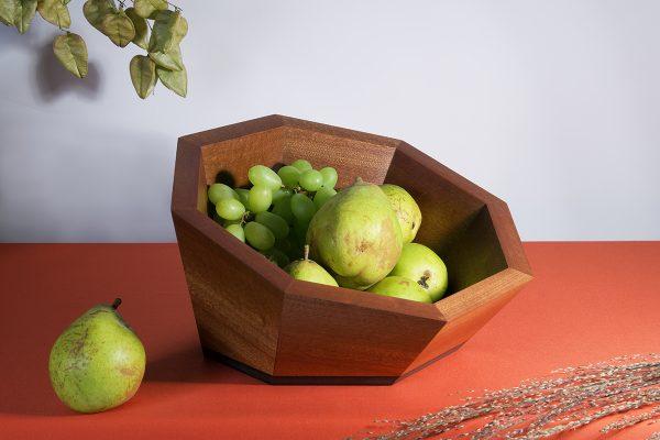 Luxury fruit bowl skewed