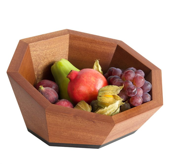Luxury fruit bowl skewed