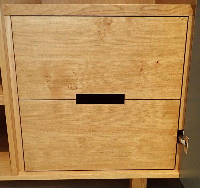 Oak wardrobe in farrow and ball downpipe