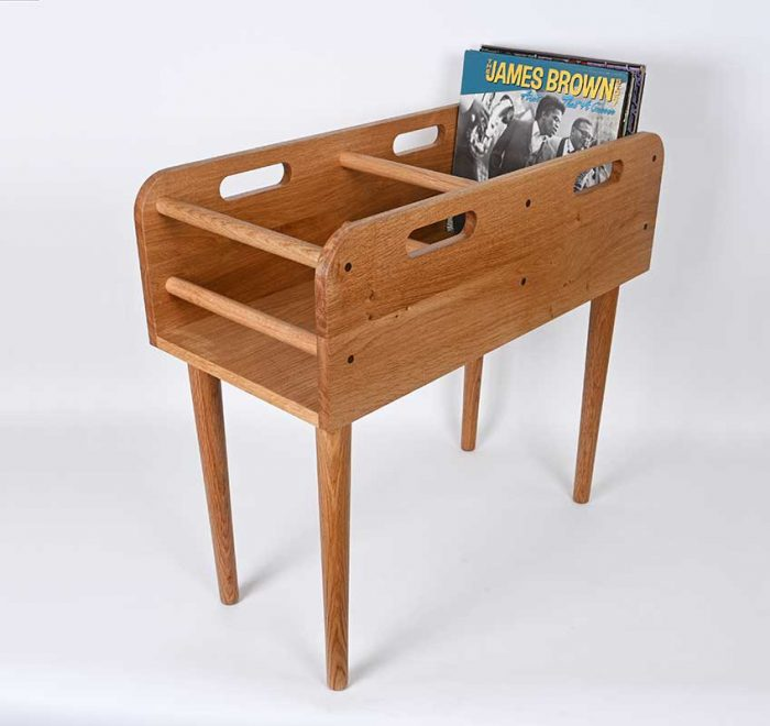 Record horse - stylish oak vinyl storage