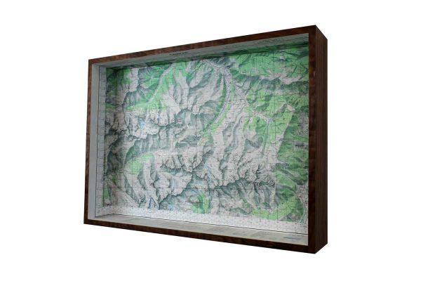 framed map box