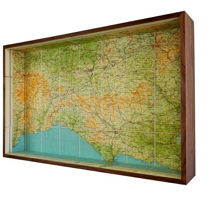 Dorset framed map box