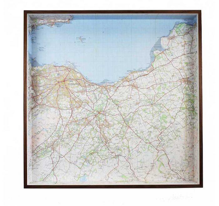 Edinburgh framed map box