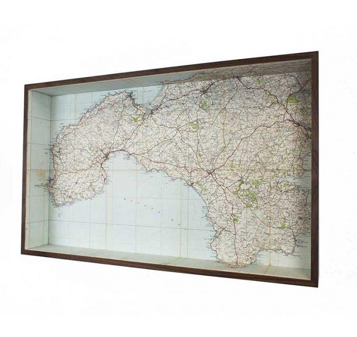 Lands end framed map box